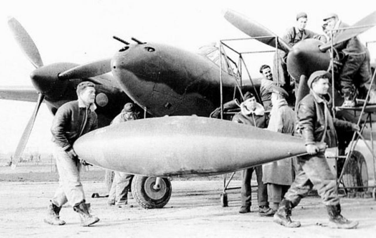 Belly tank de un avión de caza americano (1943)