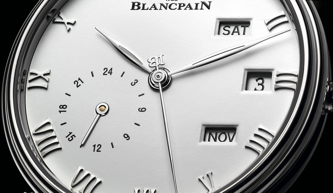 Blancpain Villeret Quantième Annuel GMT - crop esfera