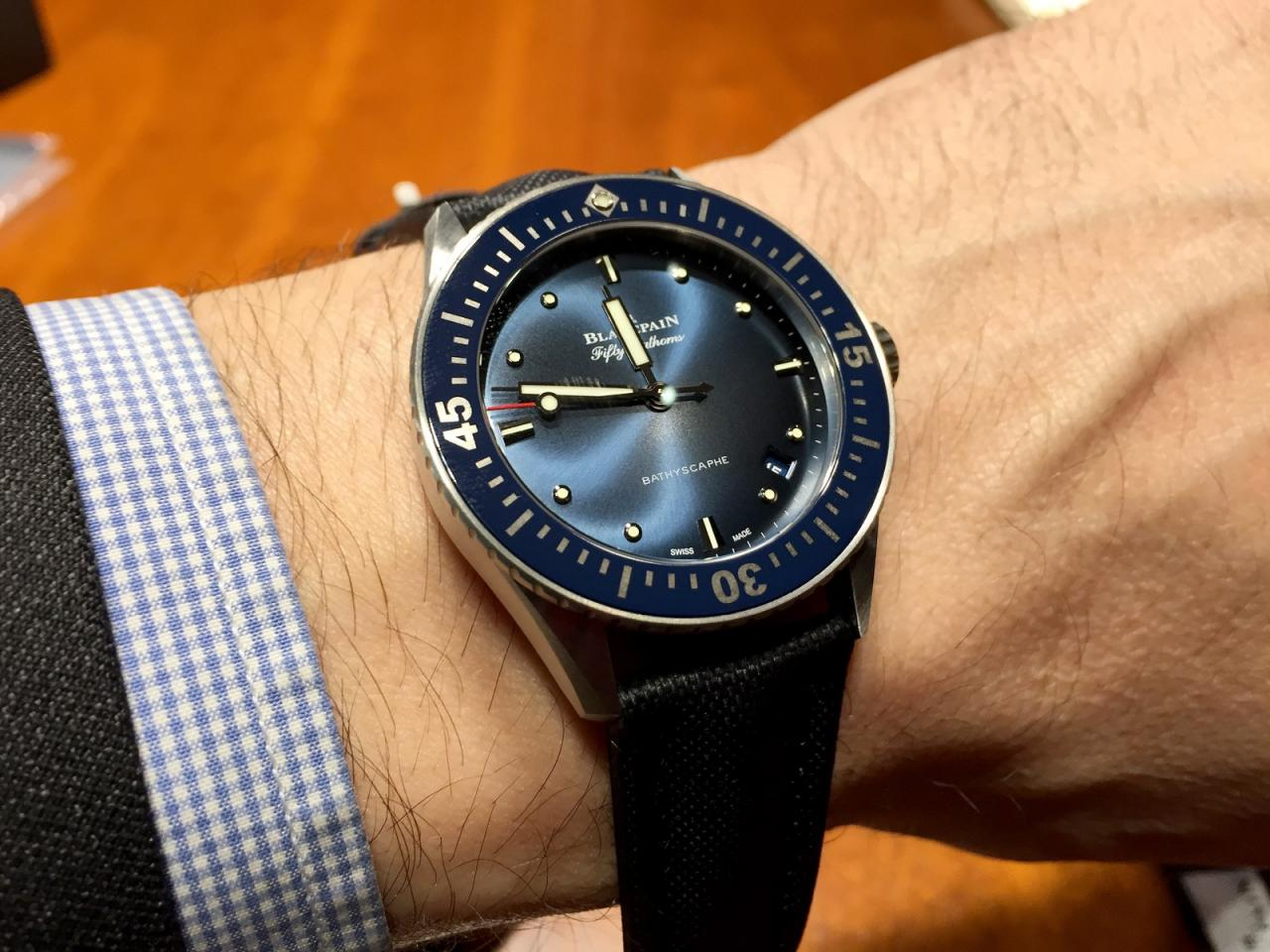 Blancpain Fifthy Fathoms Batyscaphe 38 mm